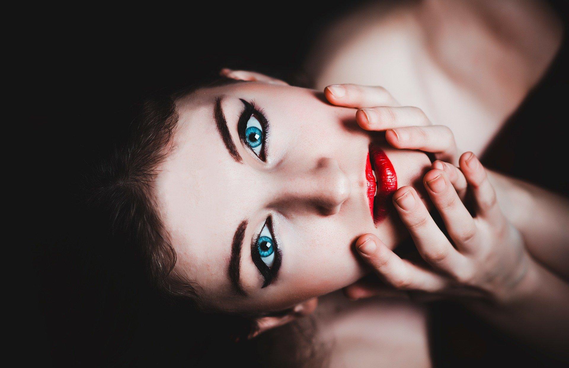 model, skønhed, make up